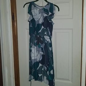 Loft Multi Colored Floral Dress